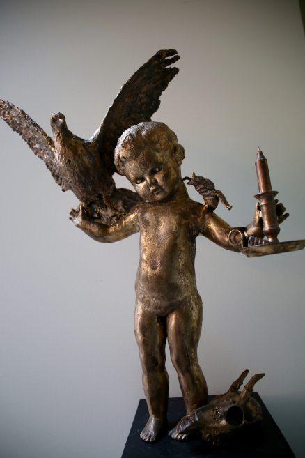 Bronzen beeld Wondering