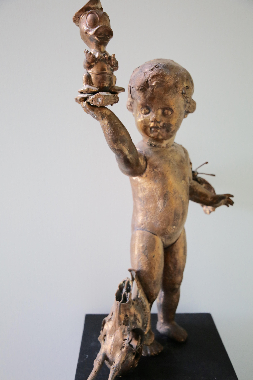 Bronzen beeld Donald