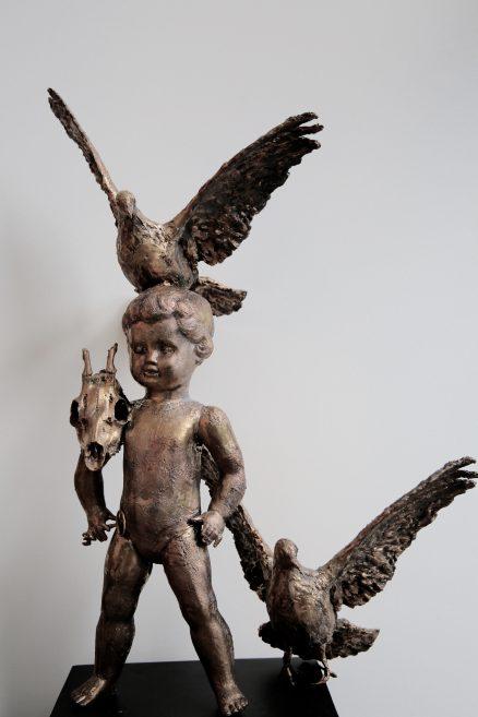 Bronzen beeld Hero