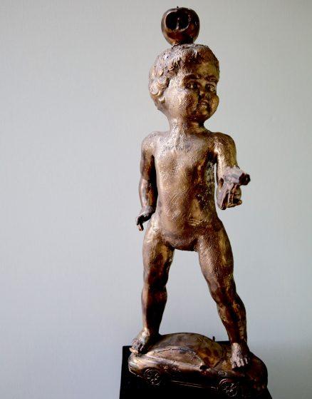 Bronzen beeld Peter Pan